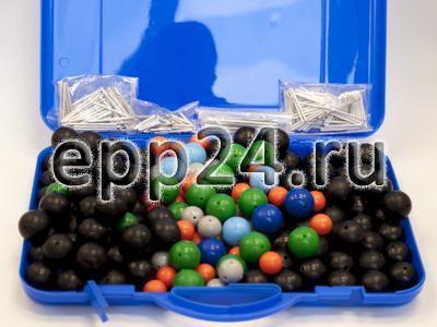 Комплект моделей атомов для составления объемных моделей молекул со стержнями (демонстрационный)