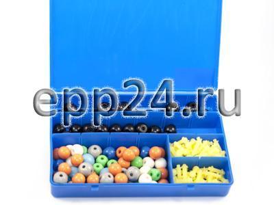 Комплект моделей атомов для составления объемных моделей молекул со стержнями (лабораторный)