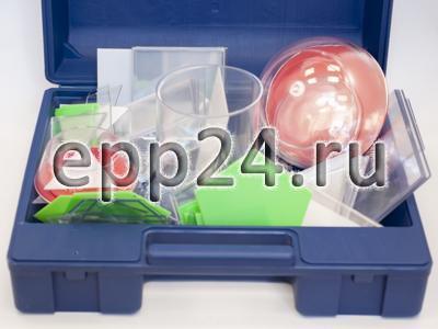 Набор прозрачных геометрических тел с сечением разборный (демонстрационный)
