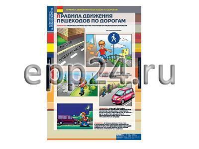 Комплект таблиц Безопасность на улицах и дорогах (12 шт.)