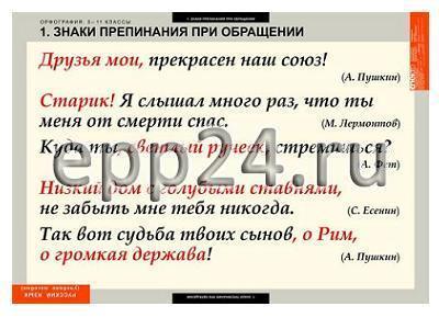 Комплект таблиц Русский язык. Орфография 5-11 классы (15 шт.)