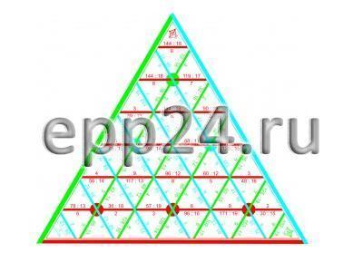 Математическая пирамида Вычитание до 100 раздаточная
