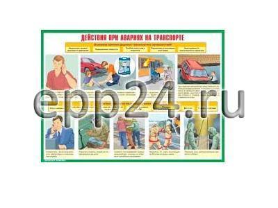 Плакаты Действия населения при авариях и катастрофах
