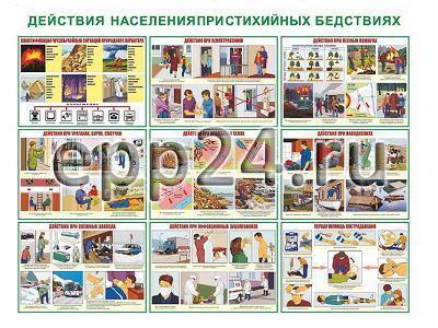 Плакаты Действия населения при стихийных бедствиях