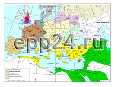 Карта Европа 14-15 век
