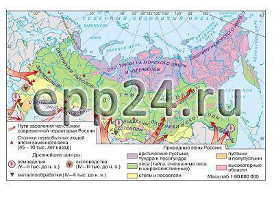 Карта Первобытнообщинный строй на территории нашей страны
