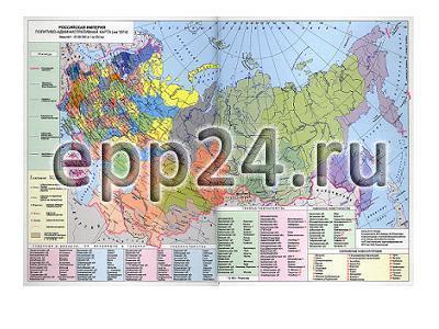 Карта Россия в XIX- начало XX столетия