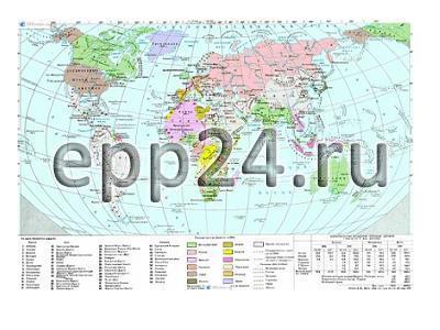 Карта Территориально-политический раздел мира 1871-1914 гг.