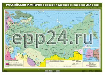 Комплект настенных учебных карт. История России 8 класс (12 шт.)