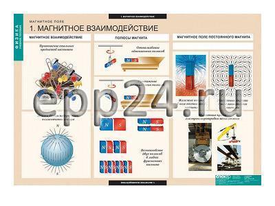 Комплект таблиц Магнитное поле (12 шт.)