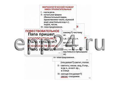 2.1.22 Демонстрационные пособия по русскому языку и литературному чтению для начальной школы