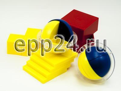 Набор для объемного представления дробей в виде кубов и шаров