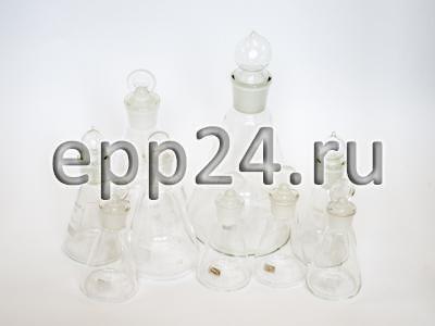 2.15.87 Комплект стеклянной посуды на шлифах демонстрационный
