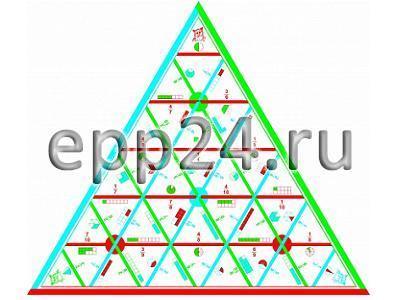 Математическая пирамида Дроби раздаточная